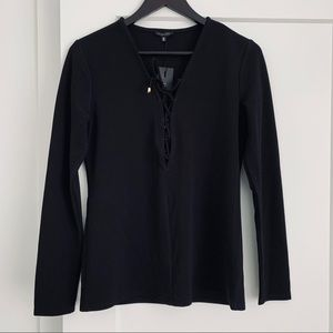 Dynamite Lace Up Top. NWT.